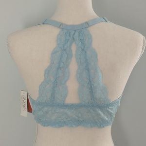 Front closure bra. Lace racerback. 36 C